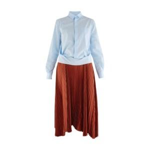 Two fabric shirt dress