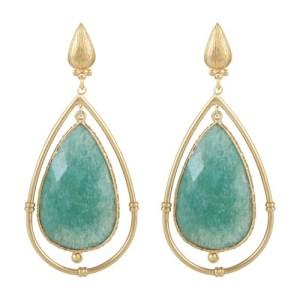 Serti cage earrings