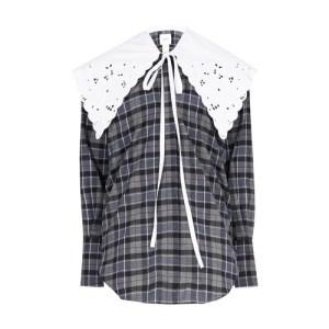 Embroidered collar shirt