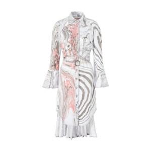Suminagashi shirt dress