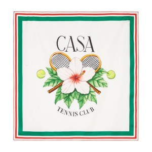 Casa Tennis Club silk scarf