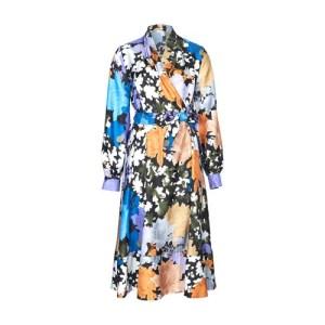 Reflection silk dress
