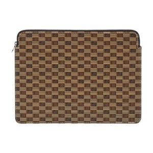 MacBook pouch cuir moreau