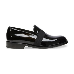 Patent black calf leather loafers
