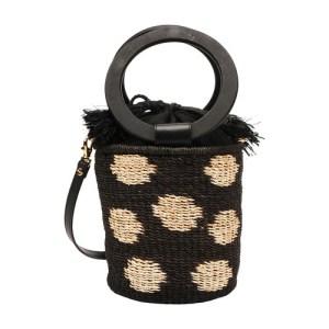 Polka bucket bag