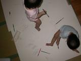 爸爸陪畫畫(一歲一個月大)