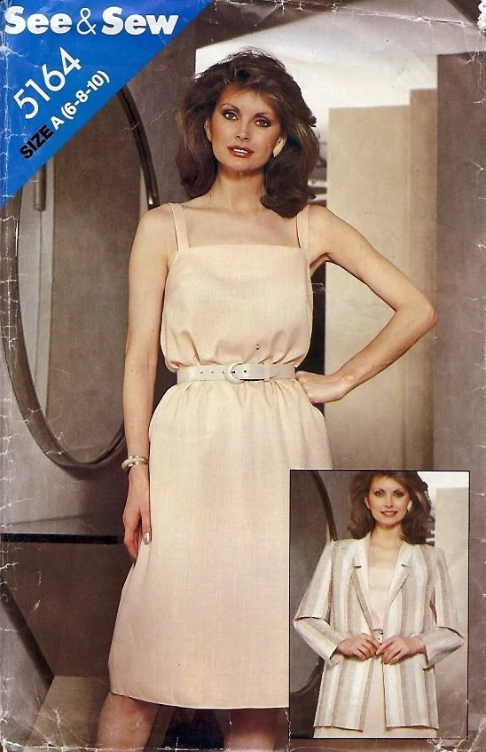 Butterick See & Sew Pattern 5164 Misses Jacket and Dress 6 8 10
