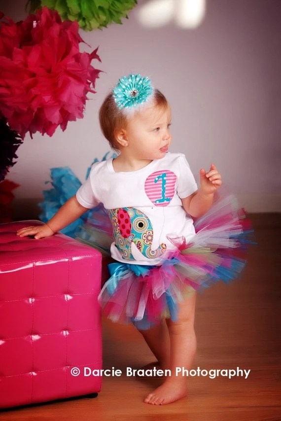 RESERVED LISTING FOR staceyfarley, Elephant Birthday Party Tutu, Toddler Size