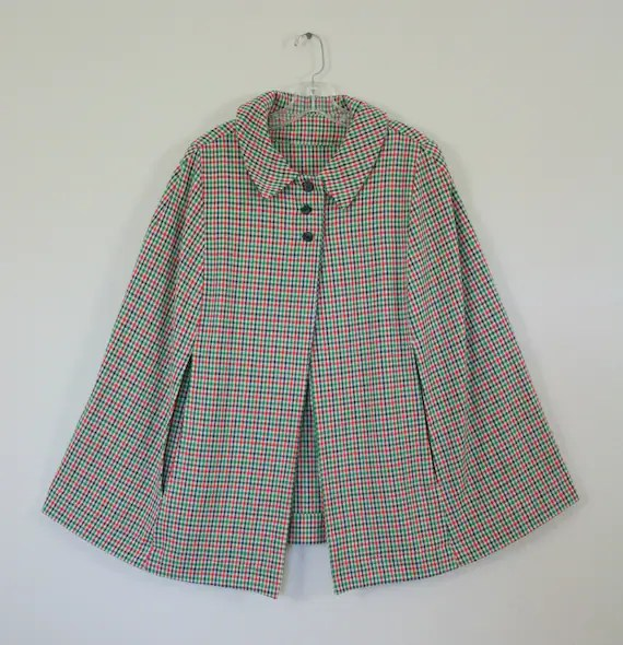 Vintage Women's Plaid Cape