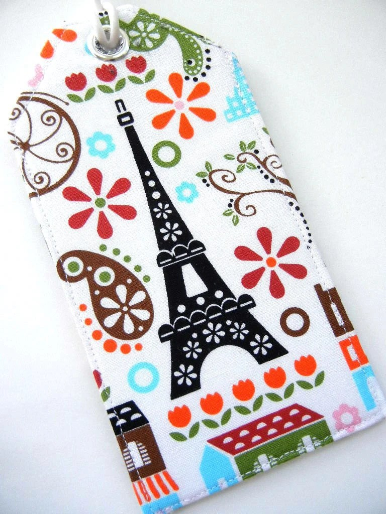 Luggage Tag - J'Adore Paris / Eiffel Tower MADE TO ORDER