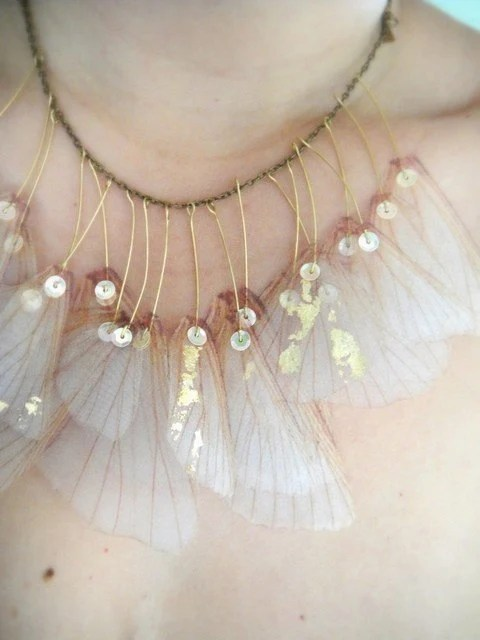 Wings of Iris- Organza Necklace - jewelera
