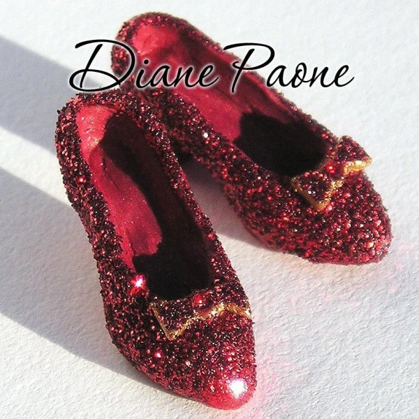 Dorothys red Ruby Slippers from the Wizard of Oz Doll House