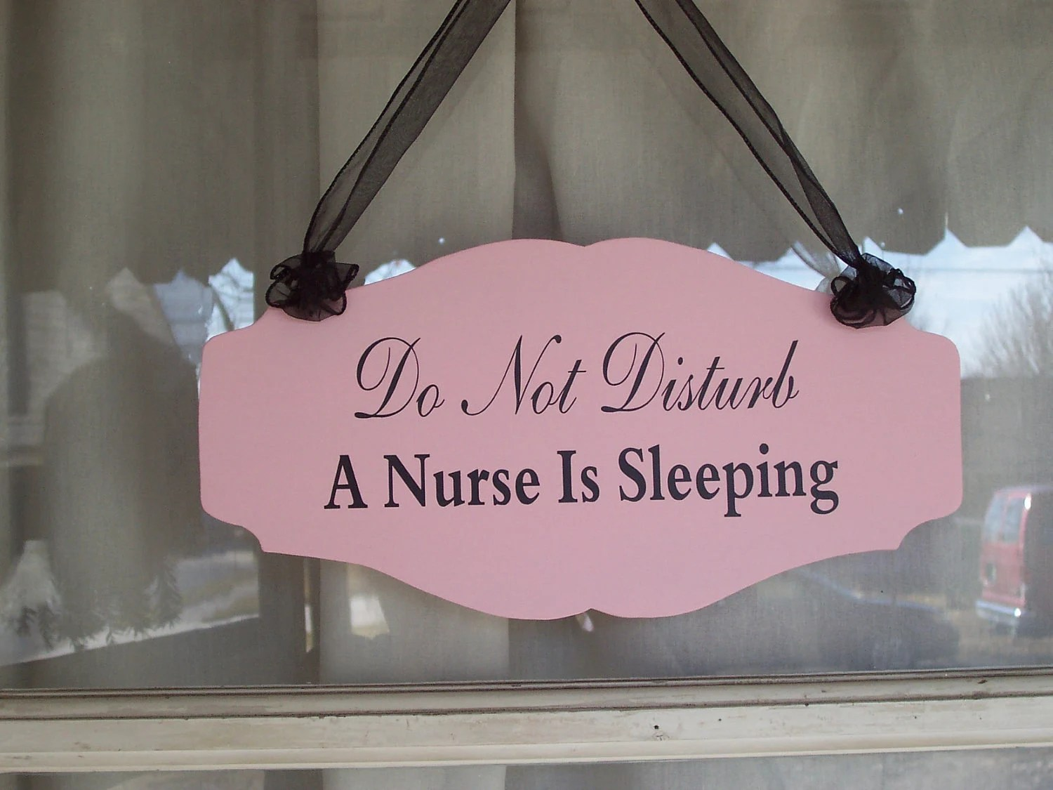 Do Not Disturb A Nurse Is Sleeping Wood Sign Vinyl Country