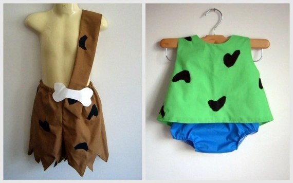 flinstones themed costume for twins!