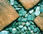 turquoise beige sand bali textures photograph--  BLUE CROSS  abstract rocks pebbles concrete Bali travel Asia