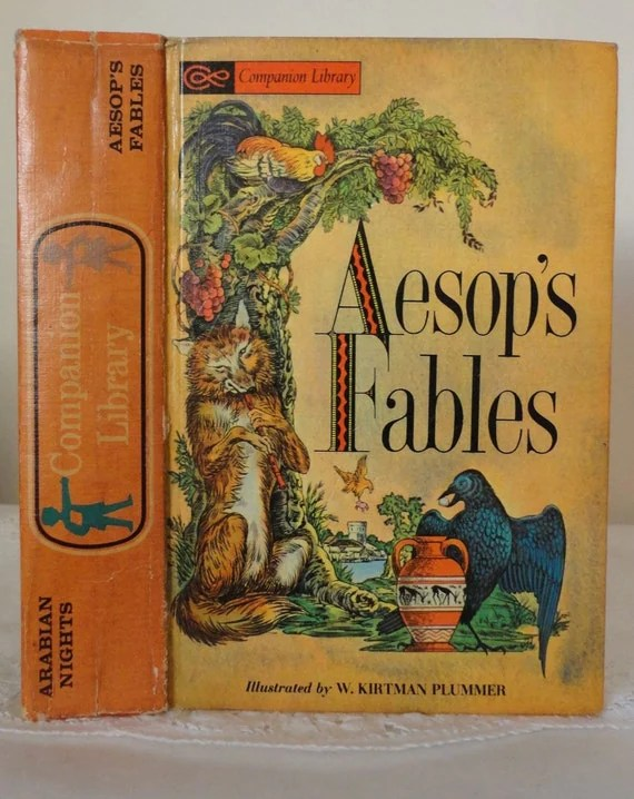 Keepsake Box Hollow Book Aesops Fables From Vintage Book Cover