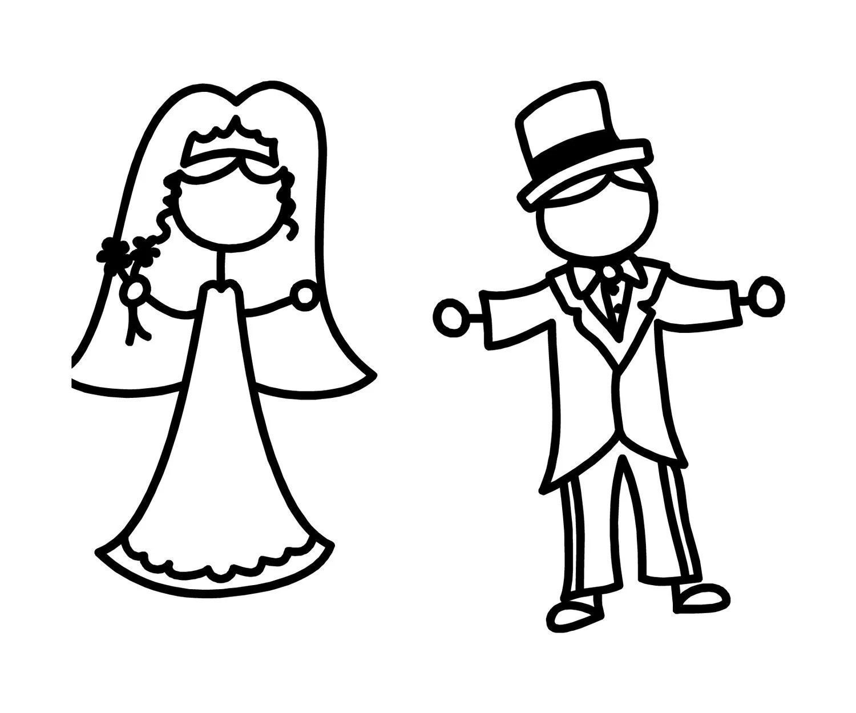 Bride And Groom Decal By Originalbridalhanger On Etsy