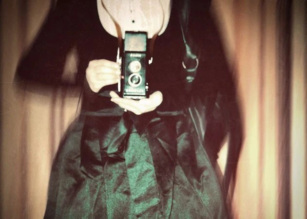 Vintage Camera Portrait - Ansco Dream, Whimsica Photo, l Green,  Black,  5x7 Print - ellemoss