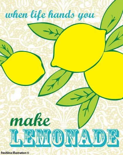 When Life Hands You Lemons Made Lemonade 8x10 Art Print - Freshline