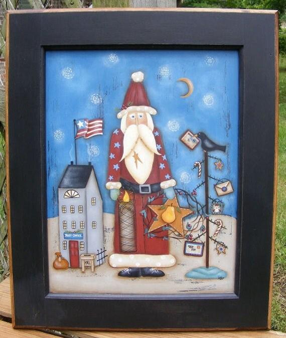 Items Similar To Primitive E Pattern Christmas Folk Art