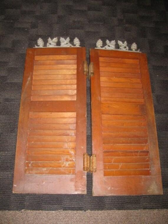Antique Shutter Swinging Saloon Doors Kitchen By