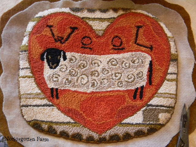 "NEW - ""Wool EWE be Mine"" punch needle pattern from Notforgotten Farm"