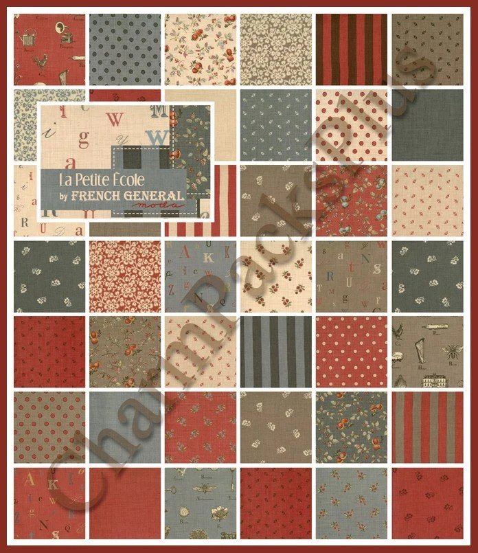 LA PETITE ECOLE By French General Moda Charm Pack Quilt