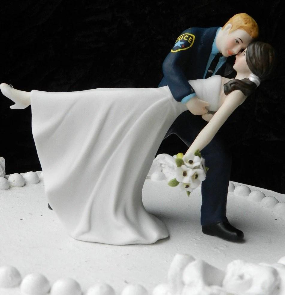 Police Officer Cop Groom Uniform Wedding Cake By CarolinaCarla