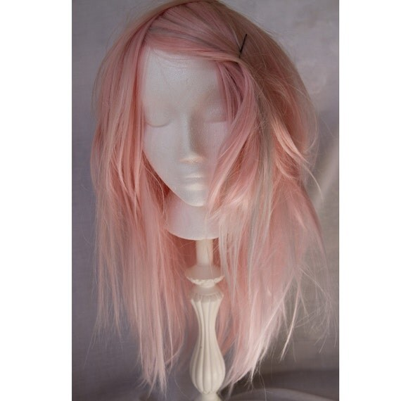 powder pink wig