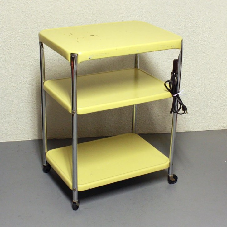 Vintage Metal Cart Serving Kitchen Oldcottonwood
