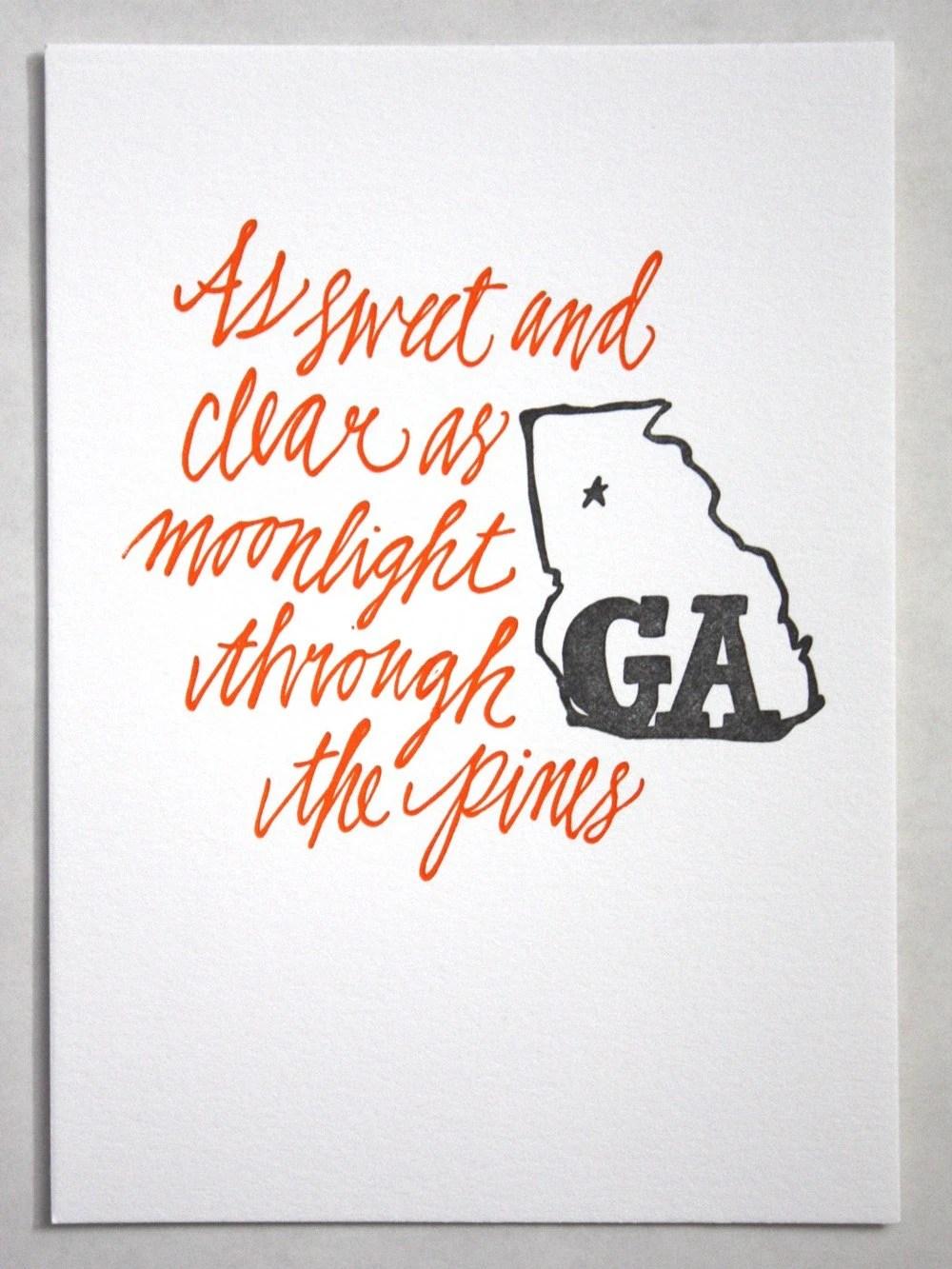 Georgia Letterpress Art Print