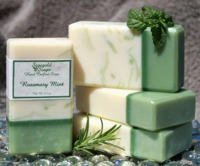 Rosemary Mint Handmade Artisan Soap - sagegold