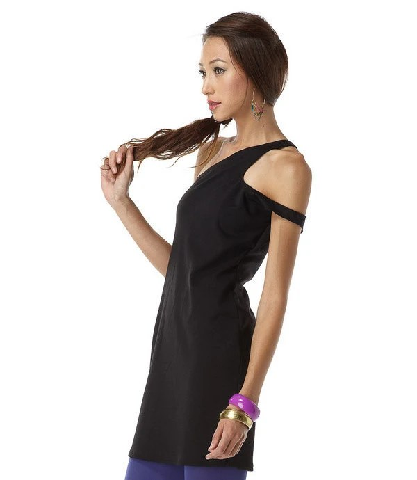 dfa9a402c83 There's just something about little, black, asymmetrical dresses, and this  one fits the bill perfectly. Simple with a twist, this one-shouldered dress  will ...