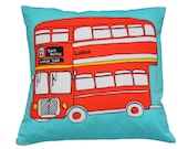 Cushion - London Bus - Samples Sale - helenacarrington