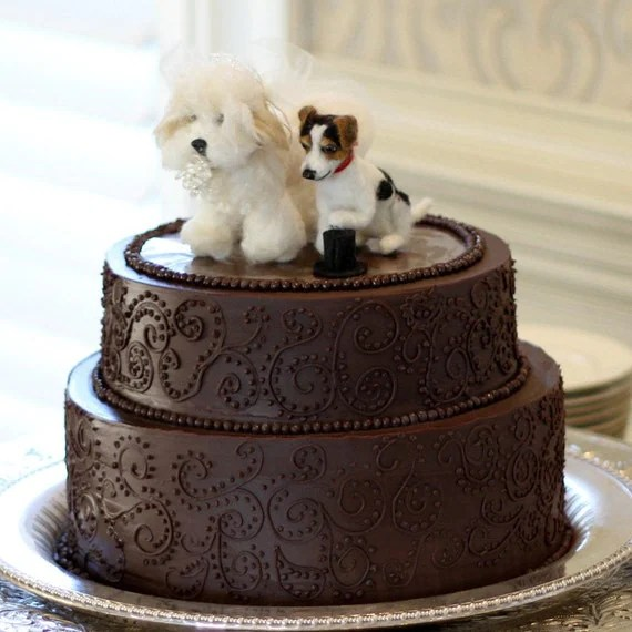 Custom Wedding Cake Toppers Dogs Needle Felted Pets