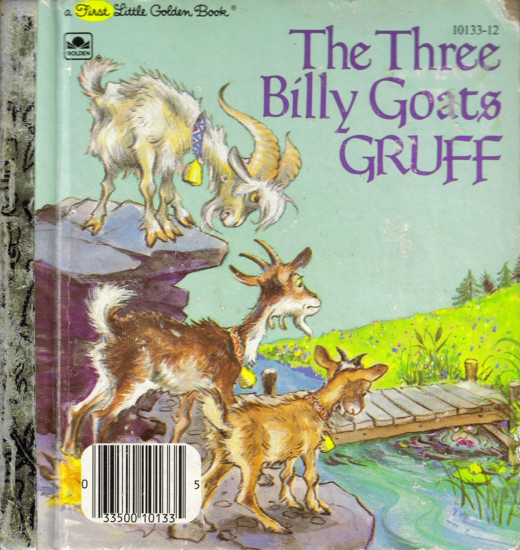 Vintage Children S Book The Three Billy Goats Gruff