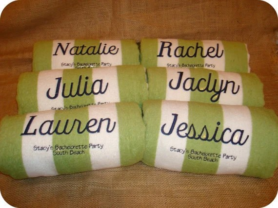 Personalized Beach Towels Many Colors To Choose From