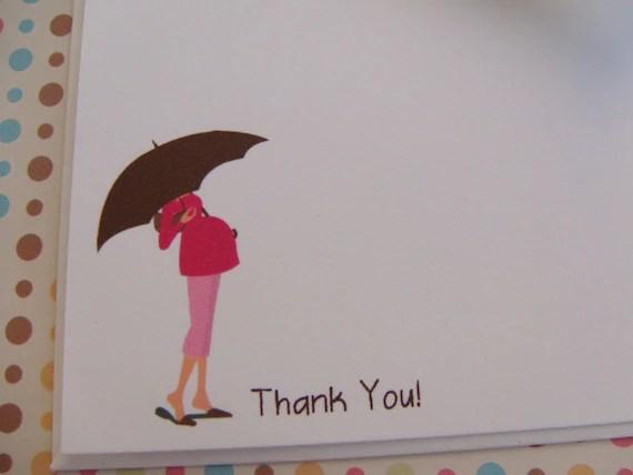 Items Similar To Mod Pink Umbrella Pregnant Woman Thank