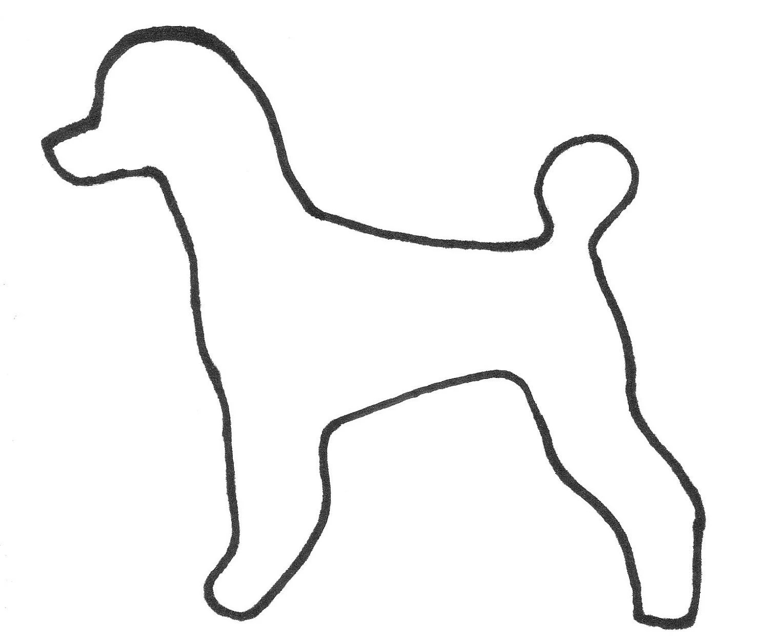 Outline Of Puppy