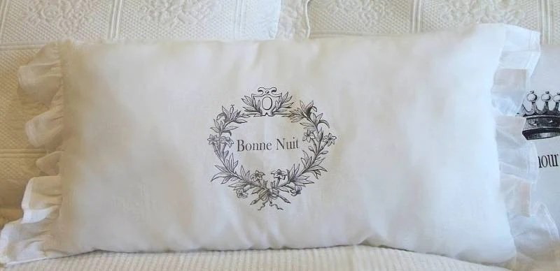 Sweet French Bonne Nuit Pillow By Petit Coterie By