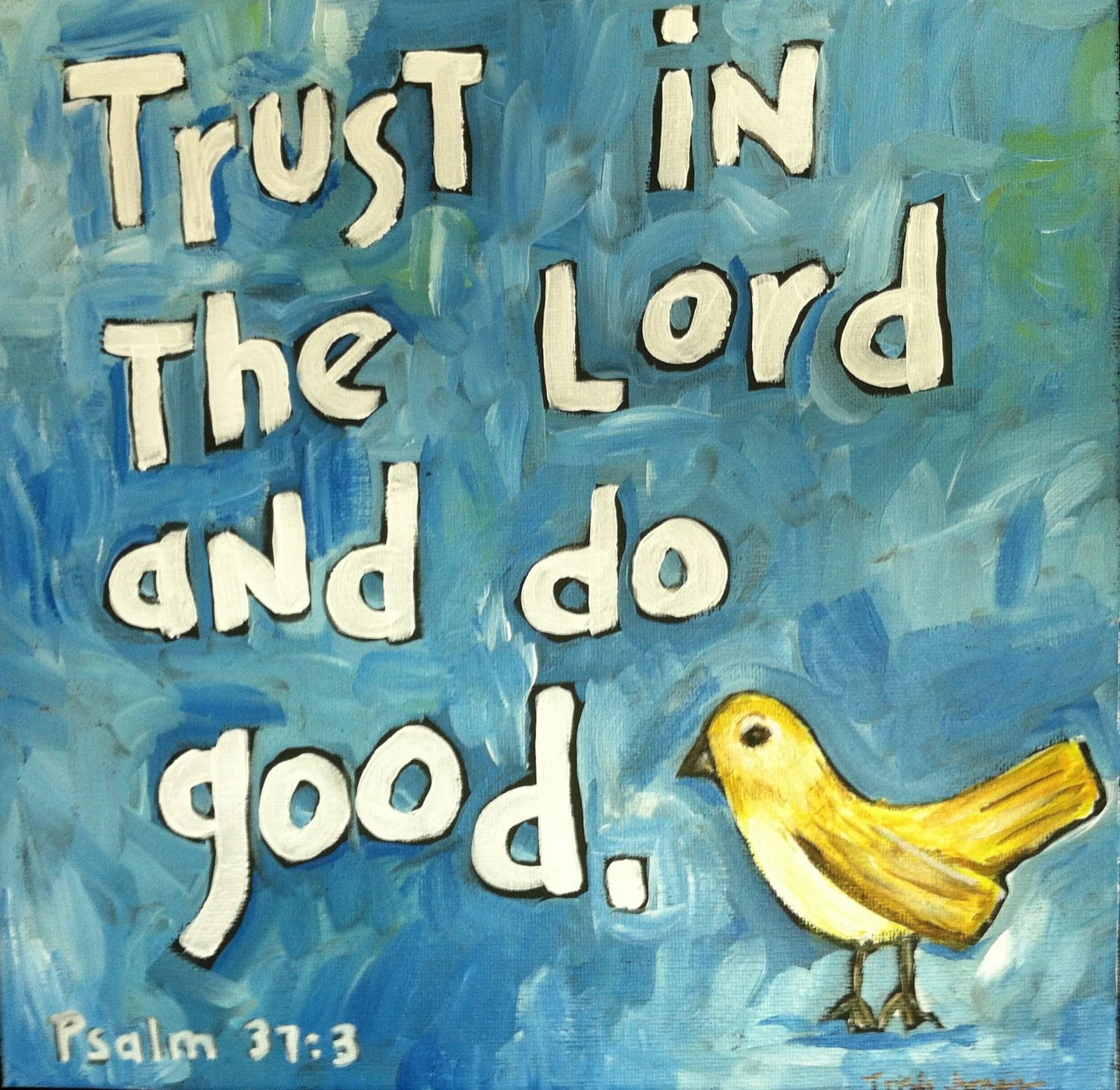 Trust In The Lord Scripture Art Painting Of Bible Verse