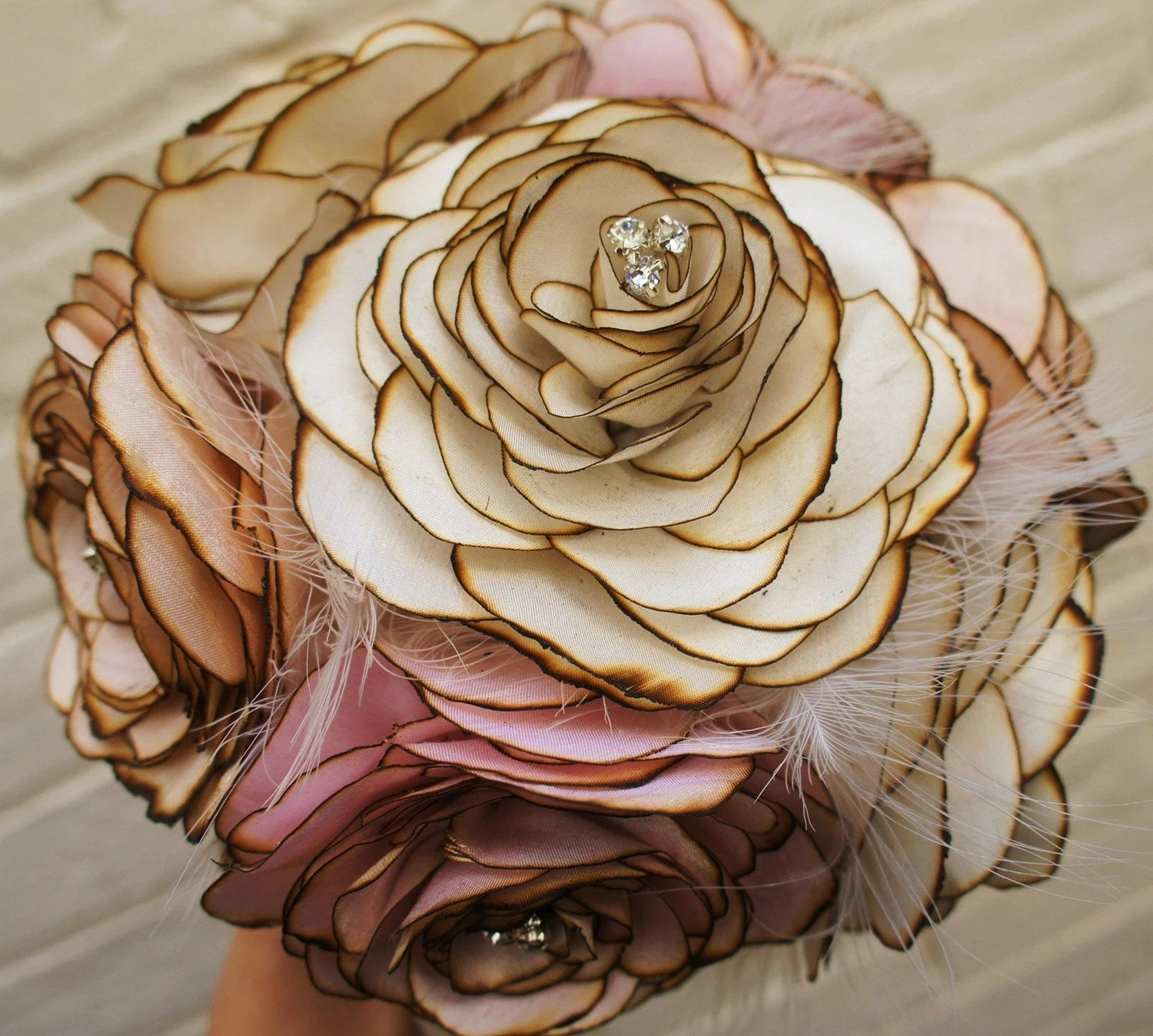 silk wedding bouquet