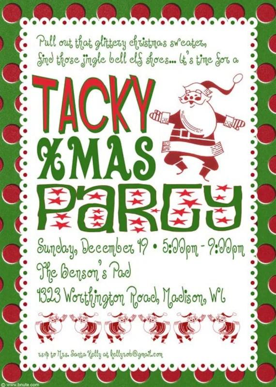 Items Similar To Tacky Christmas Party Invitation On Etsy