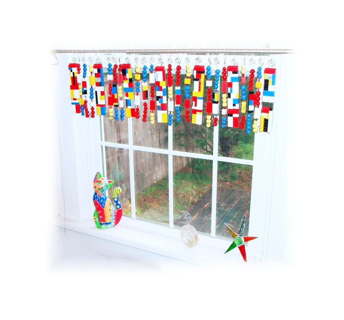 Upcycled Lego Kid S Room Or Play Room Valance Window