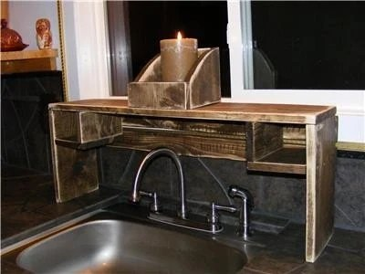 PRIMITIVE COUNTRY WOODEN OVER SINK SHELF BOX