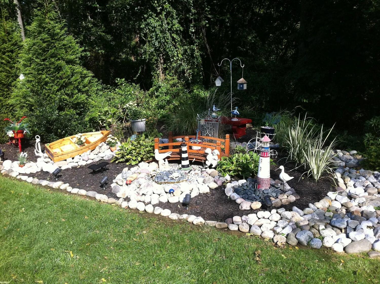 Nautical wooden outdoor landscape all cedar boat garden on Nautical Backyard Ideas id=61784