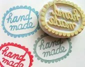 HANDMADE stamp. hand carved rubber stamp - for maker/crafter - no2 - talktothesun