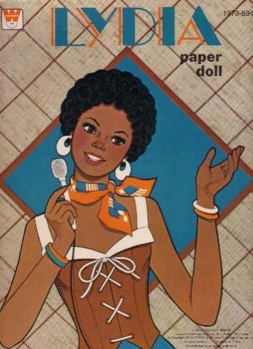 1970s African American Lydia Paper Doll Book By