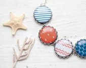 Nautical necklace - Red and blue - Sea jewelry (BN017) - BeautySpot