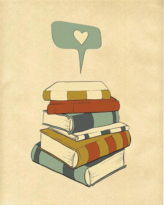 "Reading Print Art ""I READ"" 8x10 Books Love Poster / Modern Art - ParadaCreations"